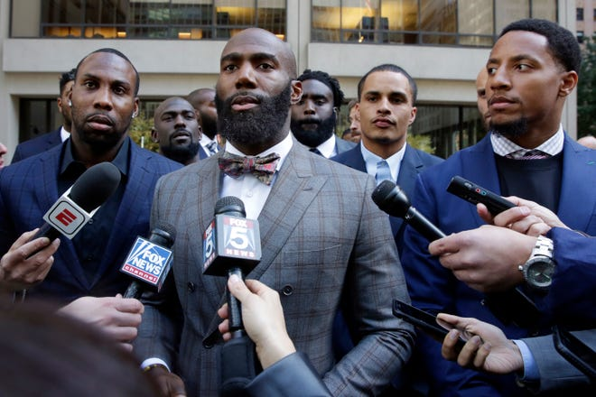 Anquan Boldin, left, and Malcolm Jenkins co-founded the Players Coalition.