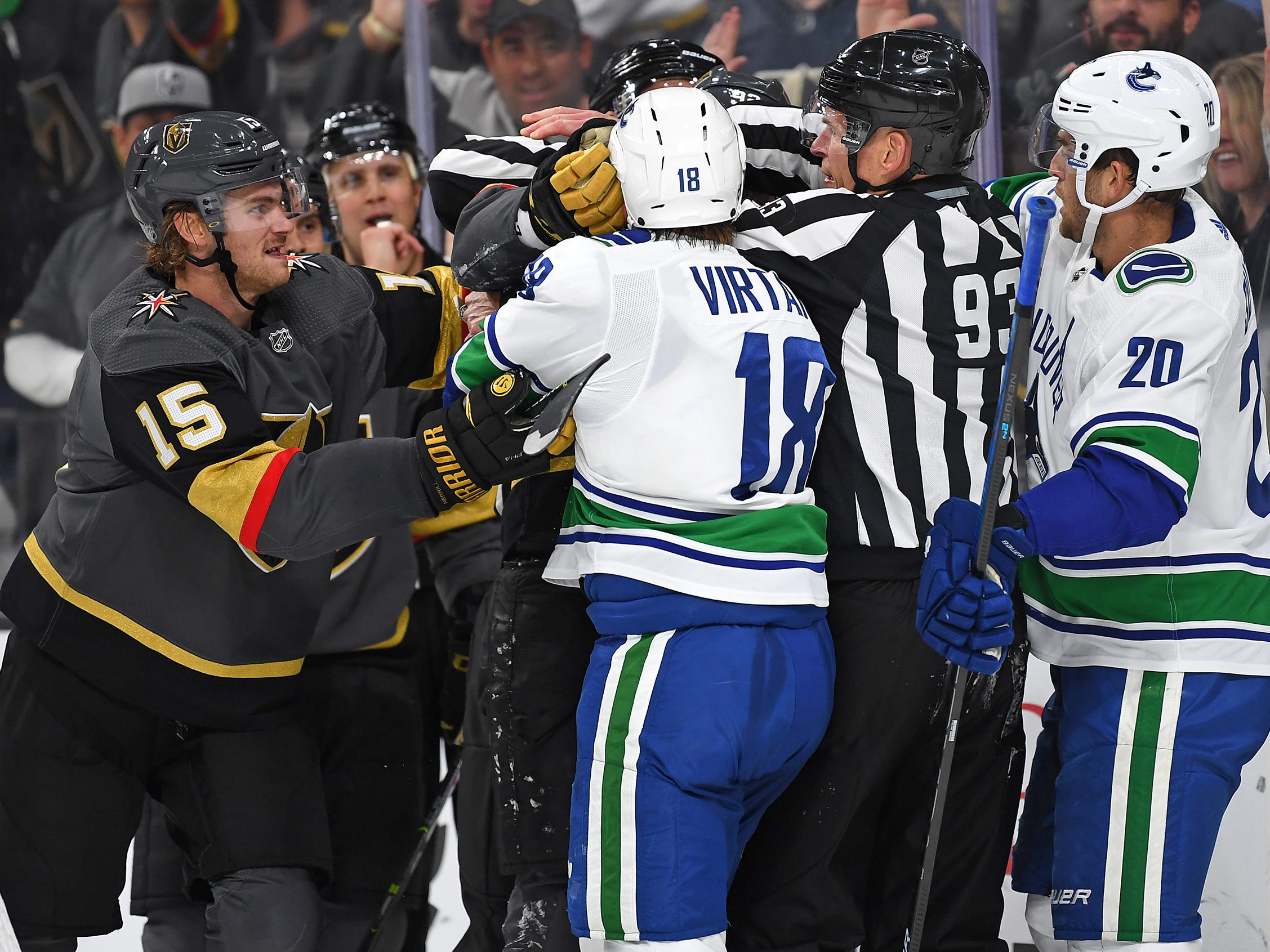 Oct. 24: Golden Knights vs. Canucks.