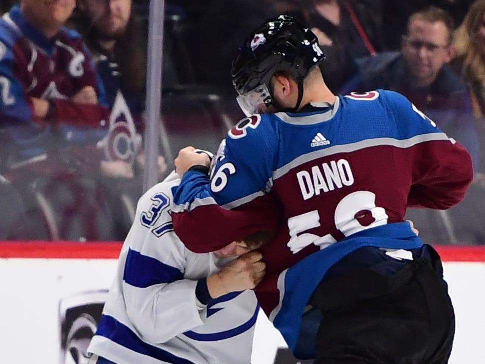 Oct. 24: Lightning's Yanni Gourde vs. Avalanche's Marko Dano.