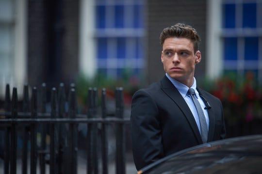 Richard Madden plays David Budd, a heroic war veteran assigned to protect the British Home Secretary, in Netflix's 'Bodyguard.'