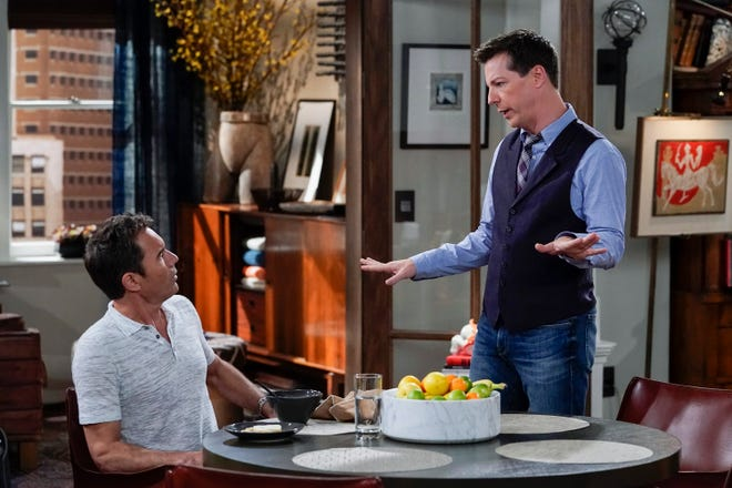 Will Truman (Eric McCormack), left, and Jack McFarland (Sean Hayes) are two characters on NBC's 'Will & Grace,' a show cited for its depiction of LGBTQ characters in a new GLAAD study.