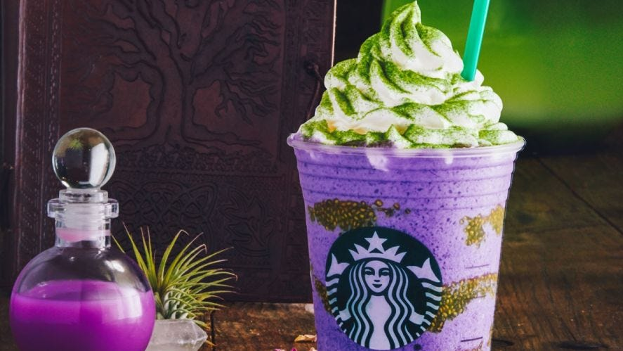 new starbucks drink: witch's brew frappuccino debuts for halloween