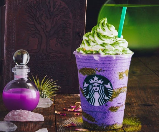 Starbucks has a new Halloween drink, the Witch's Brew Frappuccino.