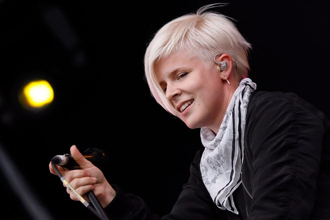 Robyn performs on the main stage at the O2 Wireless Festival in Hyde Park, in London.
