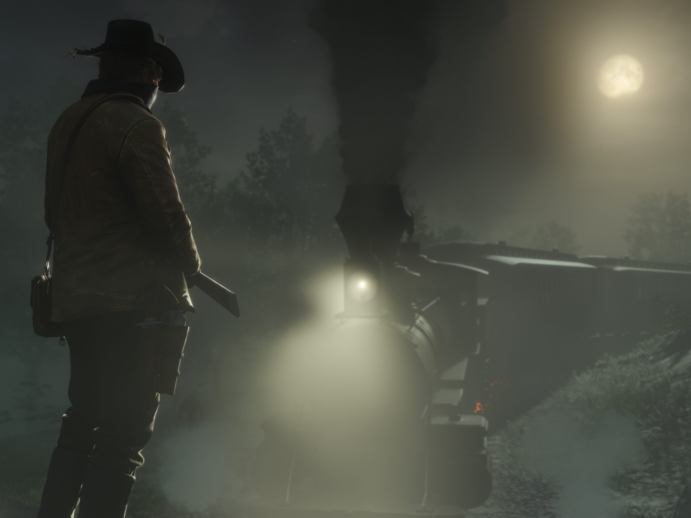 Trains and stagecoaches can be methods of transportation or targets for robbery in 'Red Dead Redemption 2.'