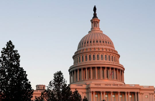 This Nov. 18, 2016, file photo, shows the U.S. Capitol dome at sunset on Capitol Hill in Washington.
