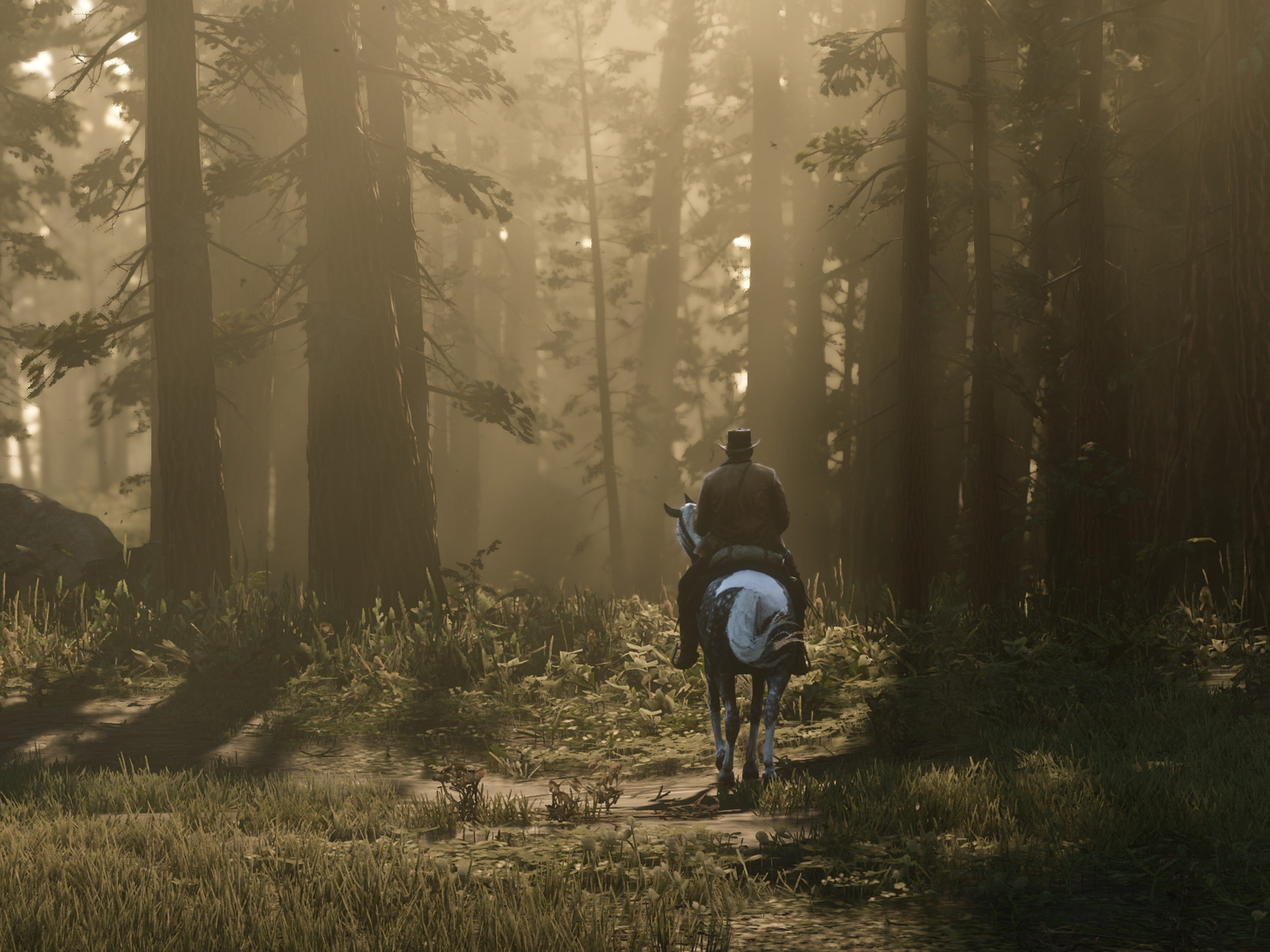 You can explore the massive setting  of 'Red Dead Redemption 2,' creating your own adventures beyond the game's storyline.