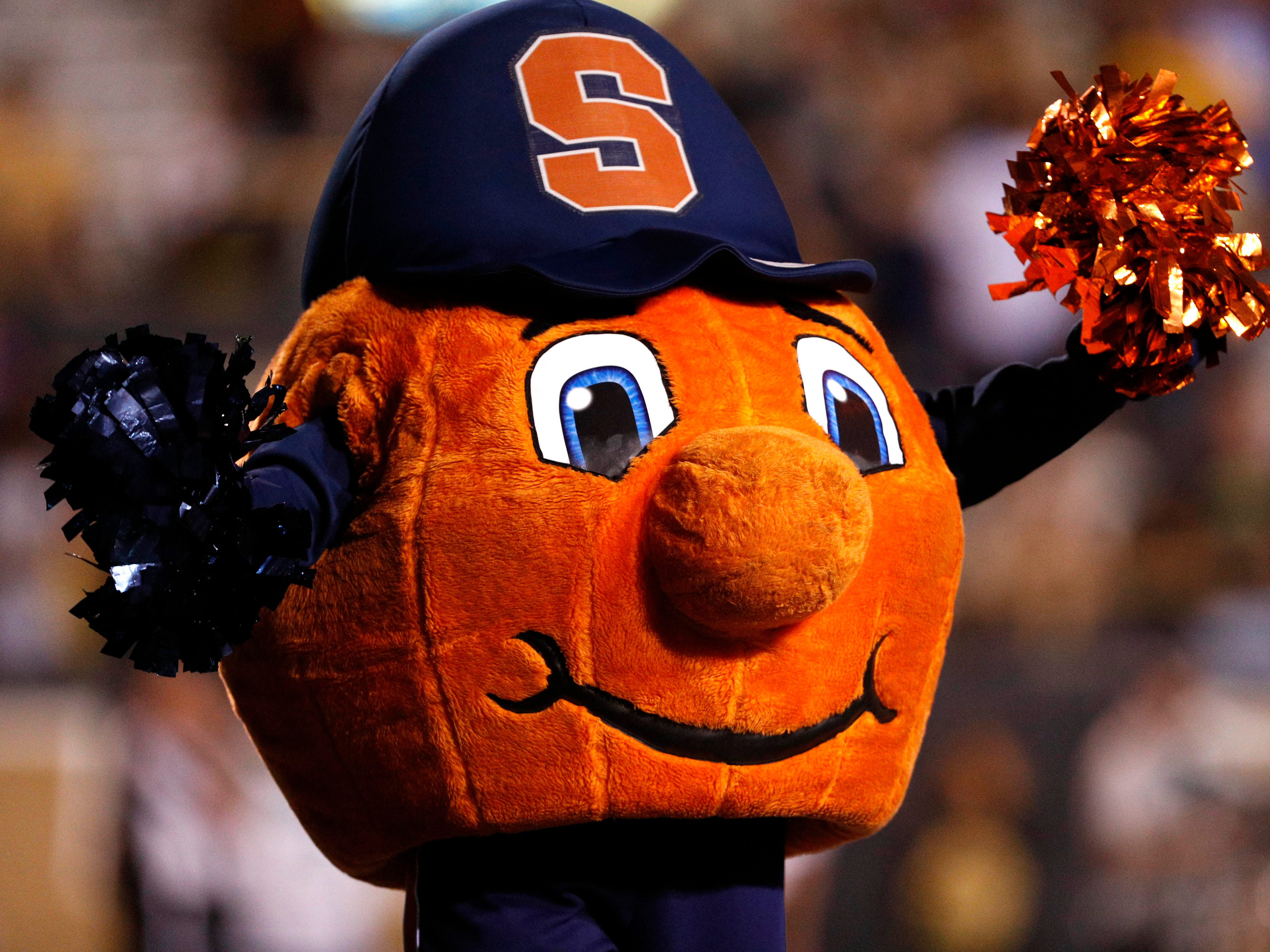 Syracuse's Otto the Orange is mostly harmless but still a little creepy.