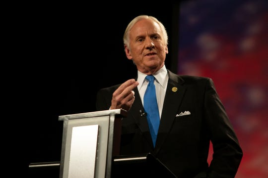Republican Gov. Henry McMaster answers a question during a South Carolina governor debate on Thursday, October 25, 2018 at Greenville Technical College.