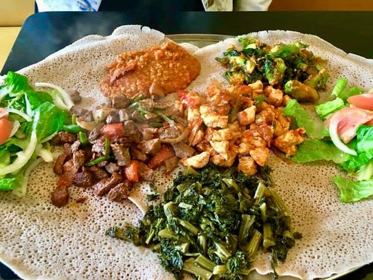Injera, a spongy flatbread, is used as both a bread and a utensil in Ethiopia. Find it at Ada's Gojjo, opening soon in Asbury Park. The restaurant previously was Ada's Latin Flavor in Long Branch.