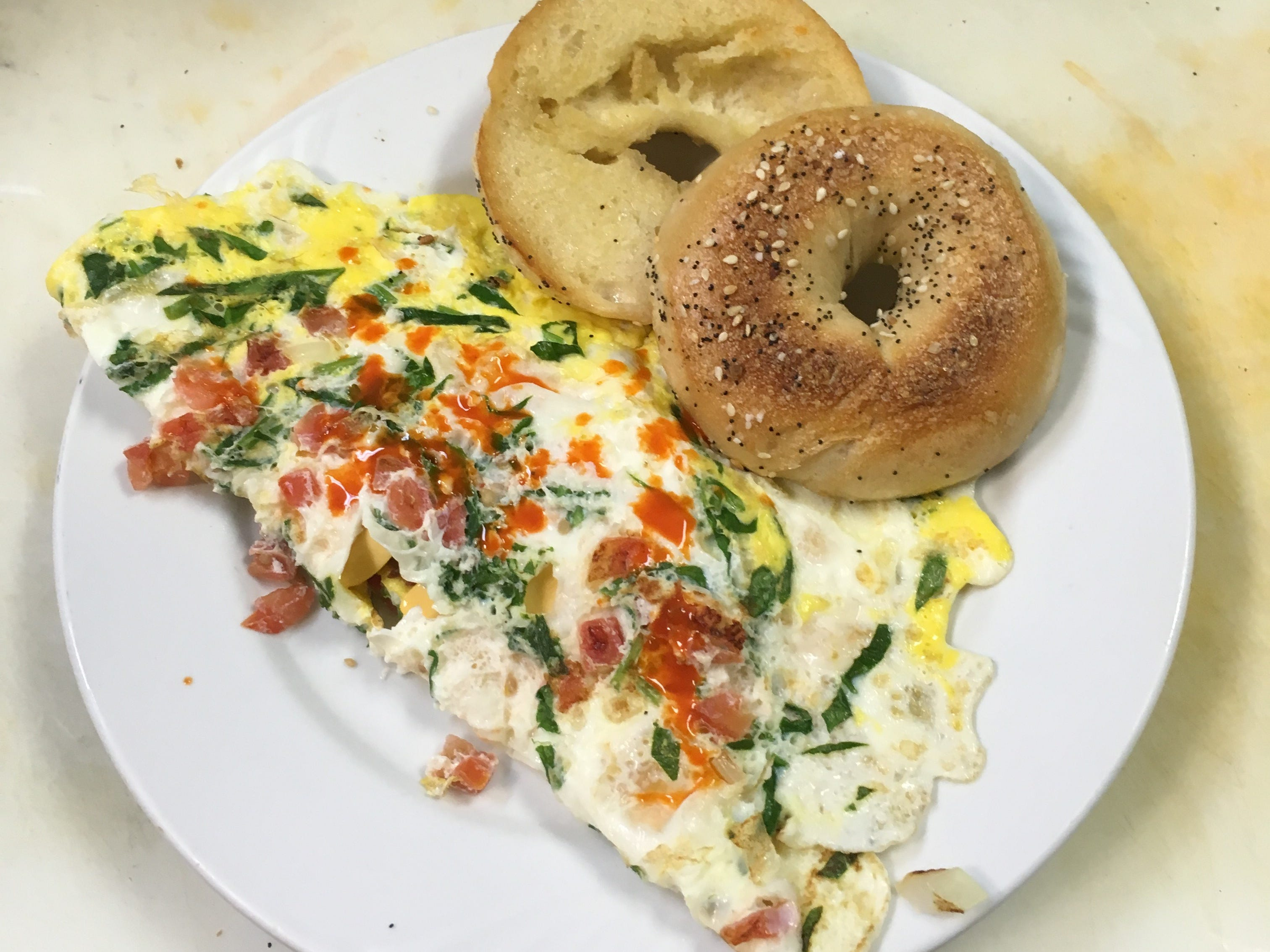 A veggie omelet at Brennan's Delicatessen, opening in Middletown early next year.