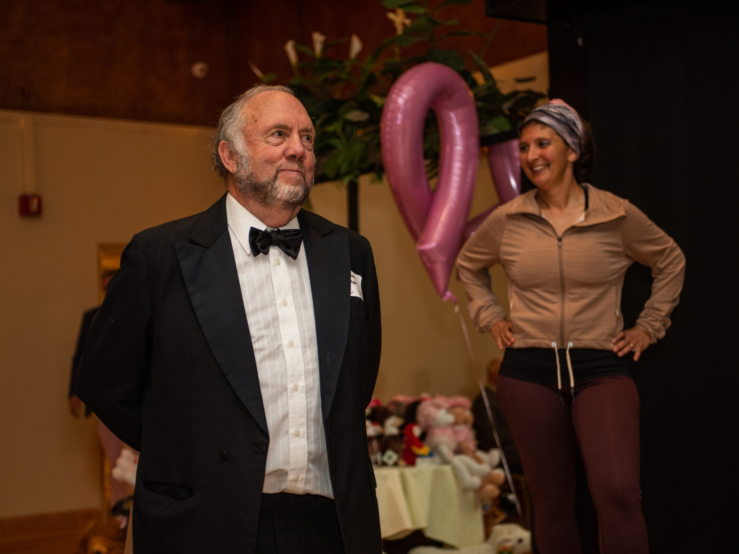State Rep. John Ager attends the Here's Hope Fashion Show fundraiser for the Hope Chest for Women on Oct. 20, 2018, at the Asheville Event Centre.