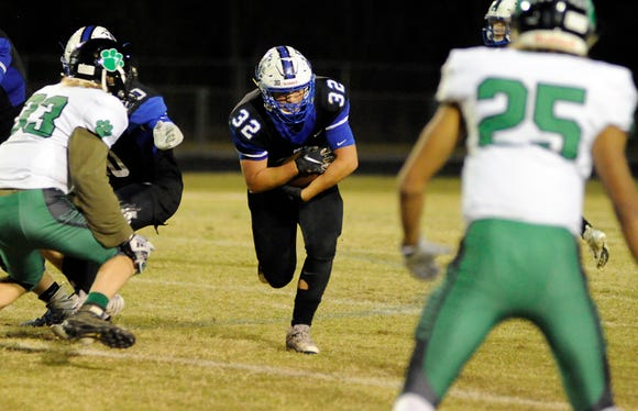 Polk County pulled of a 33-16 upset over East Wilkes in the opening round of the 1AA playoffs.