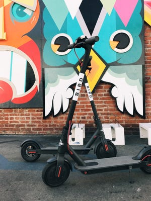 Bird, an electric scooter company, has just launched in Asheville. Riders can rent scooters through a smartphone app.