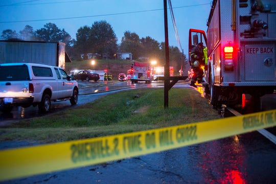 Eight fire engines were on scene at Weaverville Tire and Wheel Friday morning. The business, owned by Republican sheriff candidate Shad Higgins, caught fire sometime before 5 a.m.