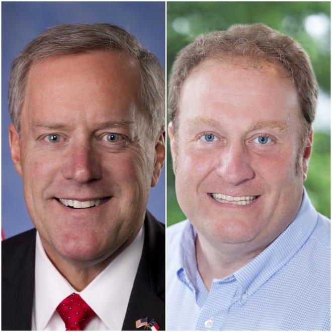 Republican 11th District U.S. Rep. Mark Meadows, left, and his Democratic challenger, Phillip Price