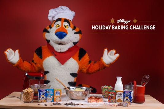 Kelloggs Holiday Baking Challenge With Tony The Tiger
