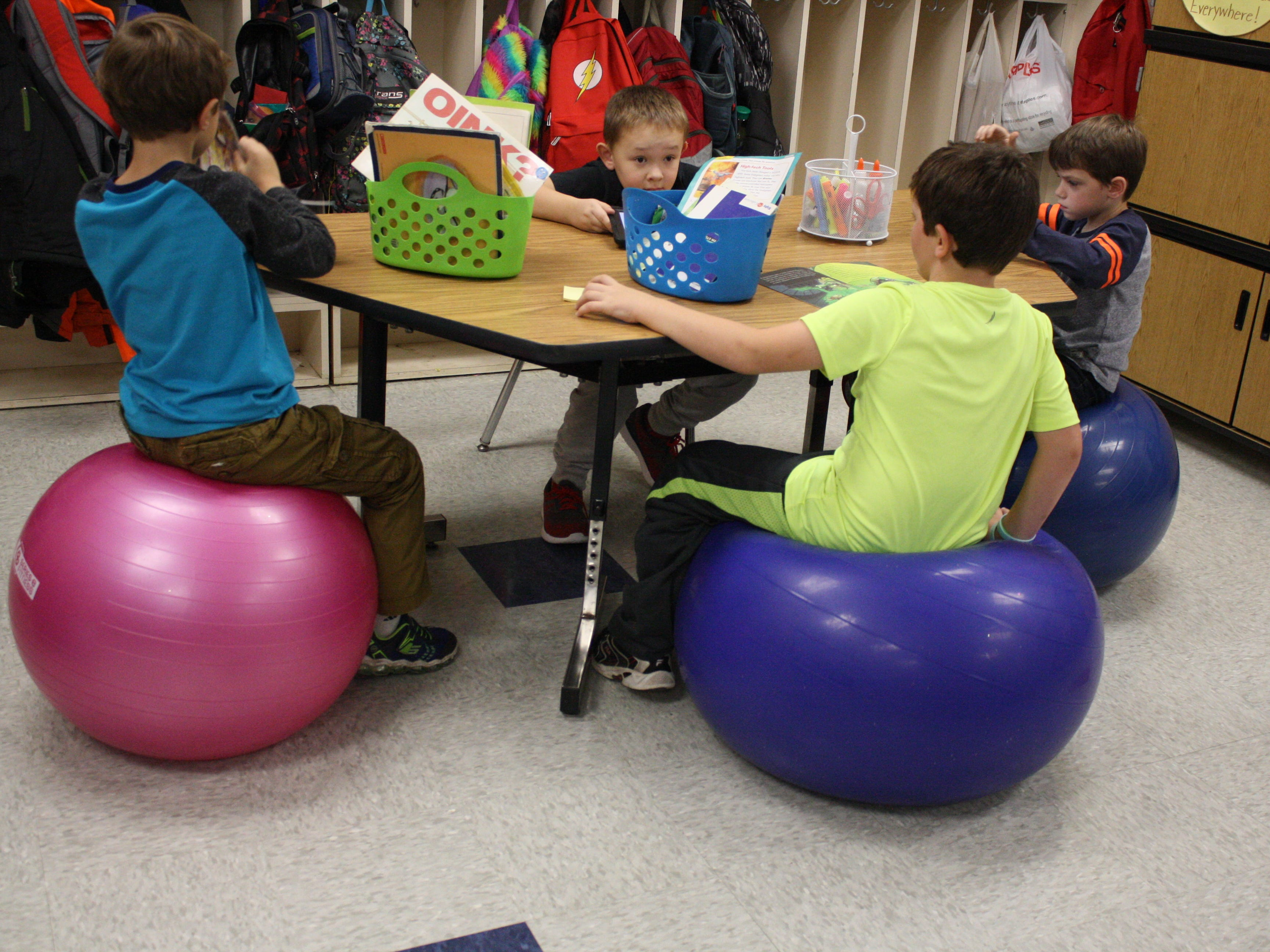 "Chenango Forks Elementary School teacher Jessica McBreen does not have desks in her classroom and instead uses ""flexible seating."""