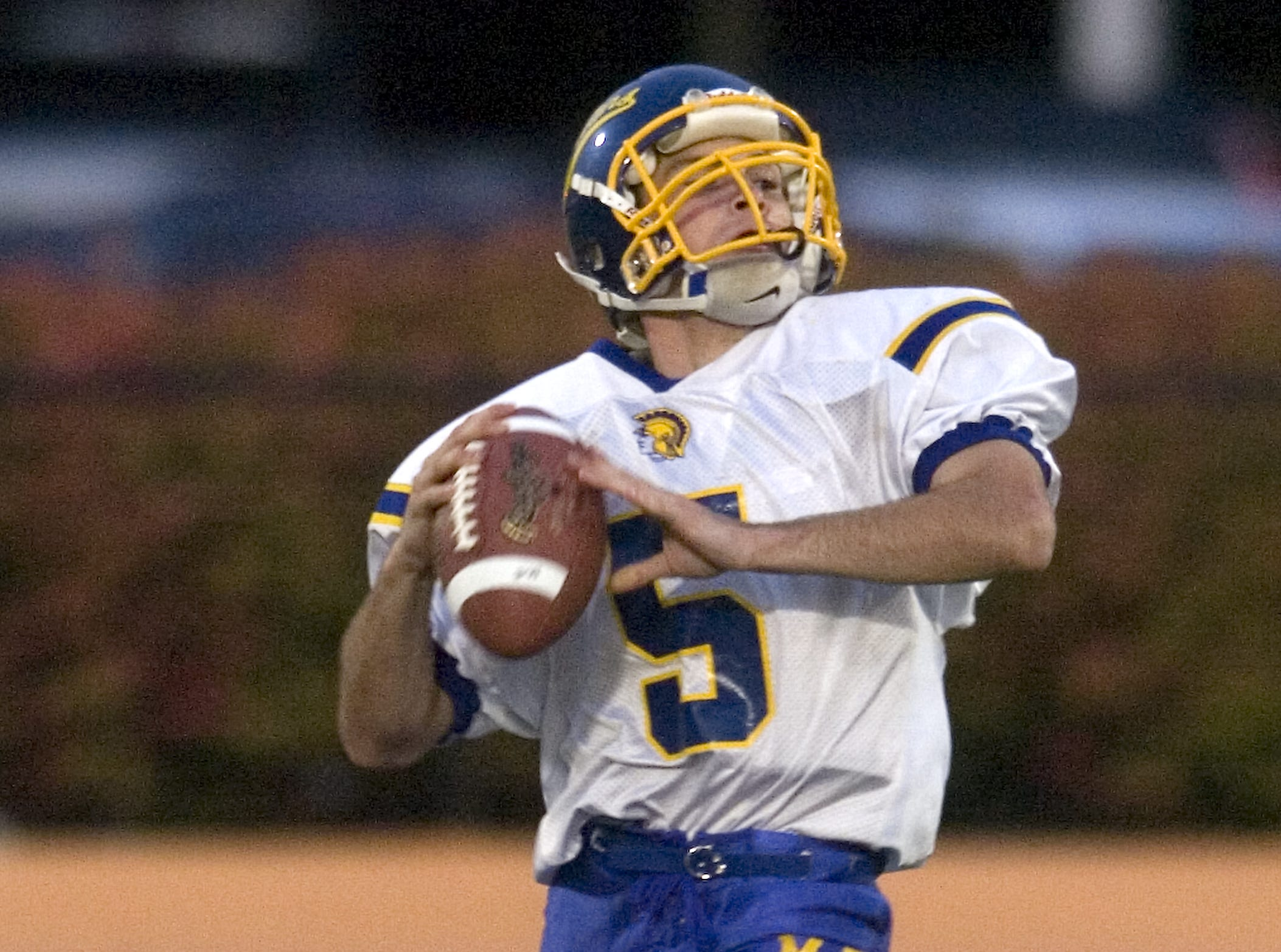 Maine-Endwell's Joey Powell in the first quarter of a 2008 game against Union-Endicott at Ty Cobb Stadium.