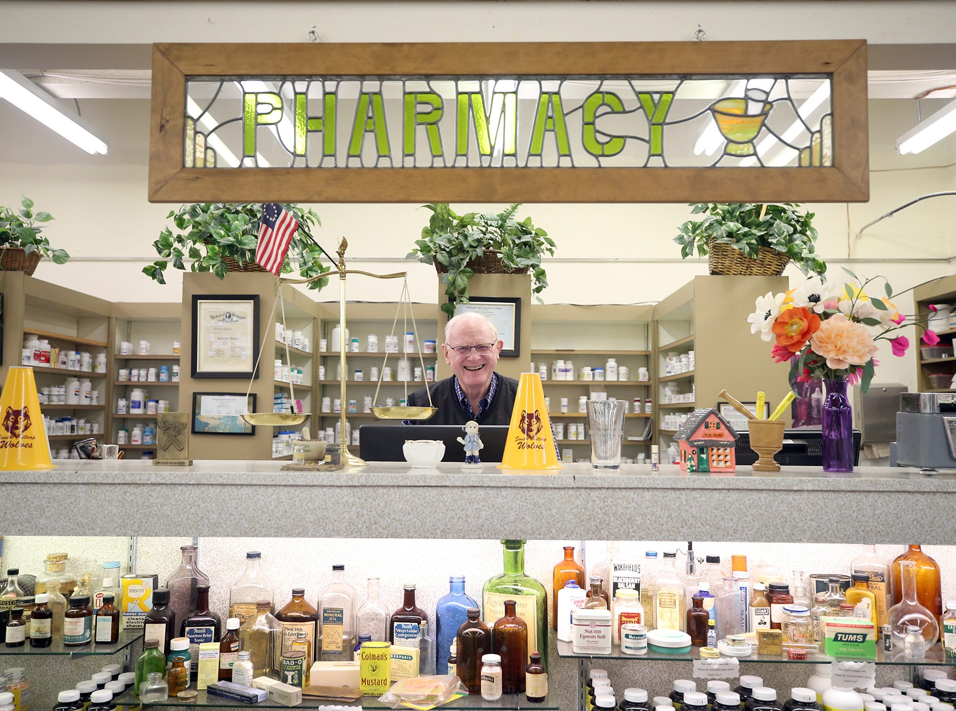 Ken Paskett has been the owner and pharmacist at the South Park Pharmacy in Port Orchard for 50 years.