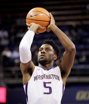 Jaylen Nowell is headed to the NBA Draft after two seasons at Washington. Experts say he's likely to hear his name called in the second round of Thursday's event.