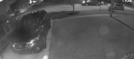 Titusville police search for suspected car burglars.