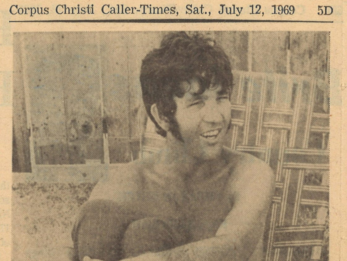 Article on Tony Joe White from the July 12, 1969 Corpus Christi Caller-Times.