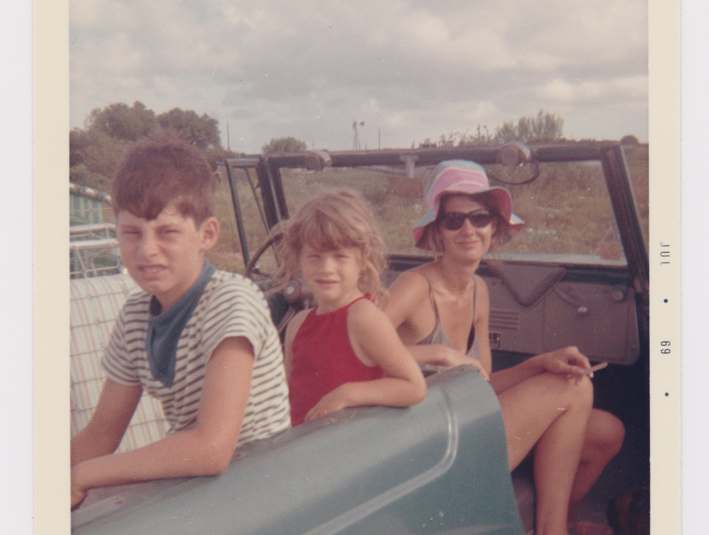 Tony Joe White often spent time on Padre Island fishing and boating when not performing his signature brand of swamp rock at nightclubs in Corpus Christi and Kingsville. Pictured is his wife Leann (right) with oldest son Jim Bob (left) and daughter Michelle (center).