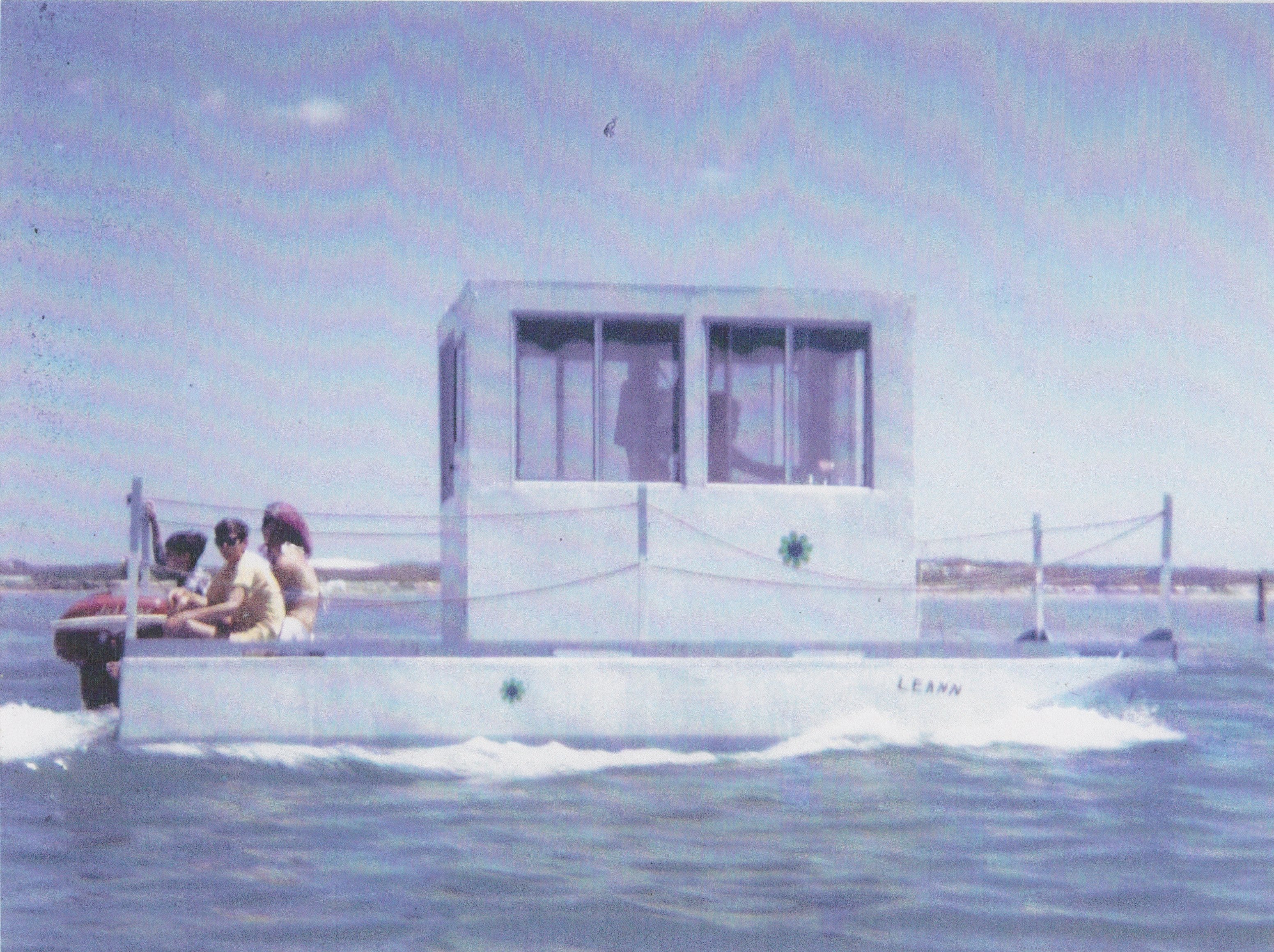 """Tony Joe White built this boat himself, dubbed """"Leann"""" after his wife, while he and his family lived in Corpus Christi in the late 1960s. They spent many hours on Padre Island."""