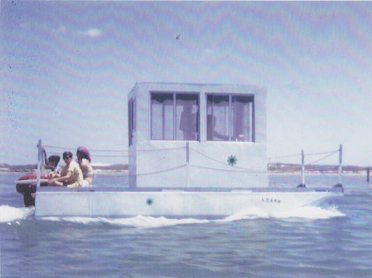 Tony Joe White Driving Boat He Built Around Padre Area