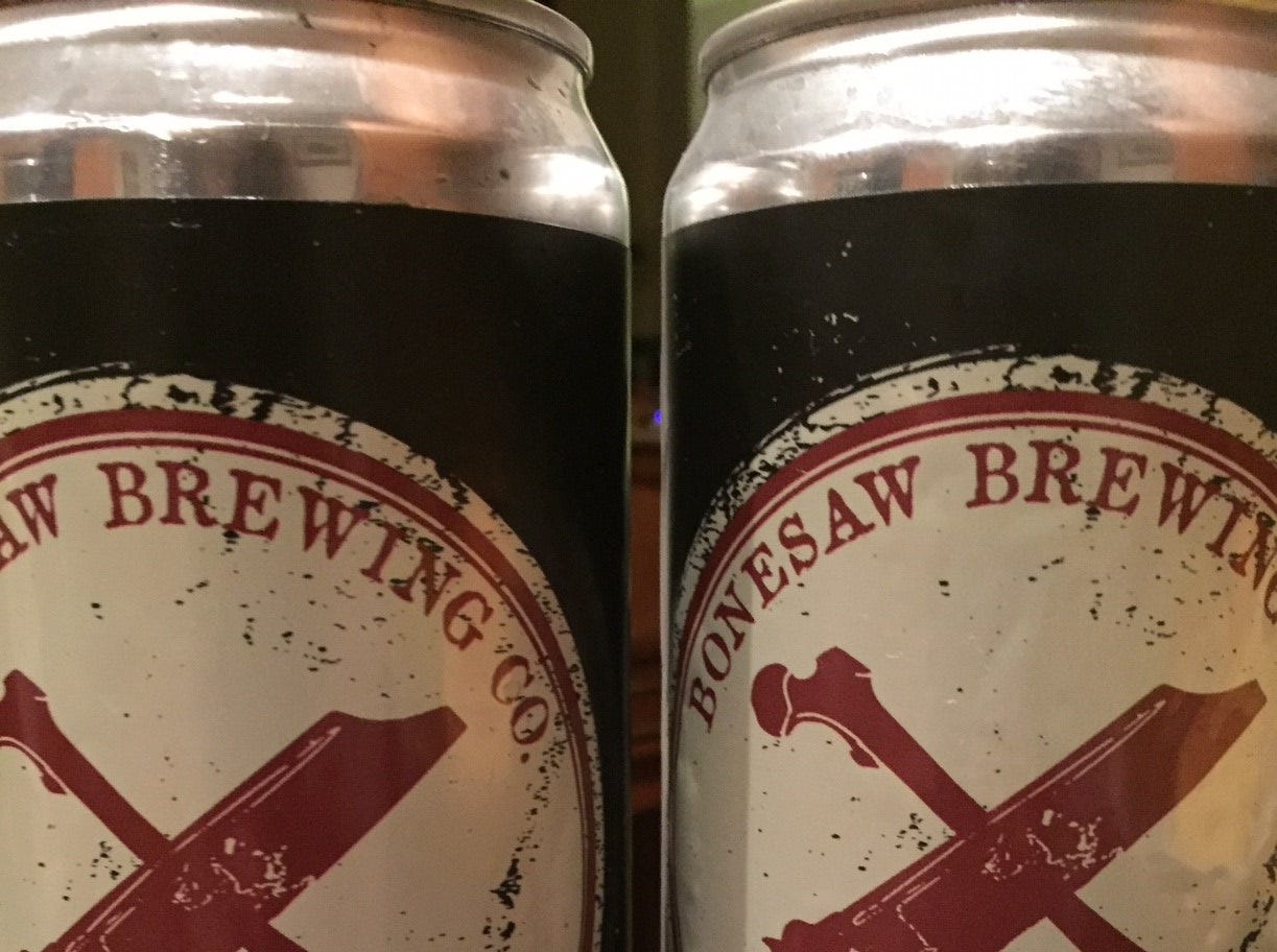 Bonesaw Brewing Company offers its beer in crowlers (pictured), four-packs and growlers from the Glassboro brewery, and is also on tap in local restaurants and bars.
