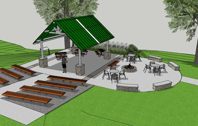 Artist rendering of the MariMac Outdoor Classroom to be constructed in the Anderson Park District's W.M. Johnson Hills Park.