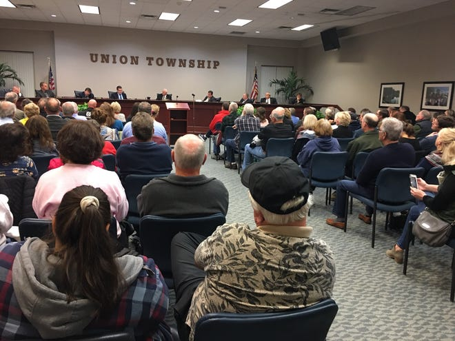 A capacity crowd at the Union Township, Clermont County, Trustee meeting.