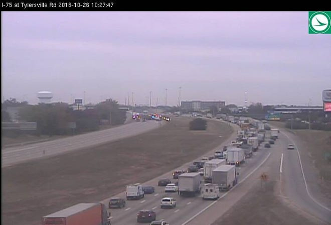 View of I-75 at Tylersville Rd