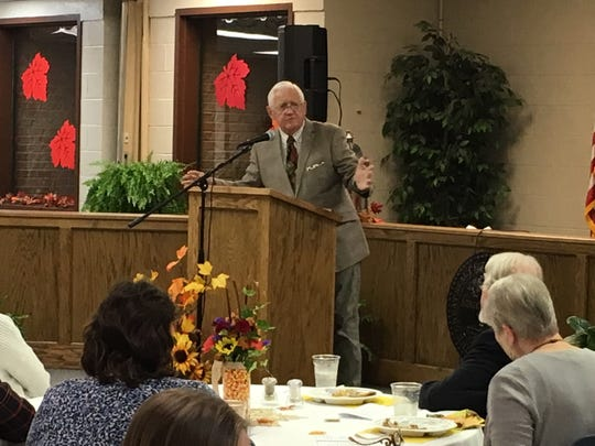 "Bud Alley, a businessman and author , was the speaker for the Houston County Area Chamber of Commerce Annual Dinner. Alley, a Vietnam veteran who earned a silver star, bronze star and purple heart, spoke about ""American character"" among those he served with in the war."