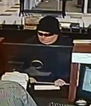 Middlesex Borough Police have released this surveillance picture of the suspect in a robbery at the Unity Bank Thursday afternoon.