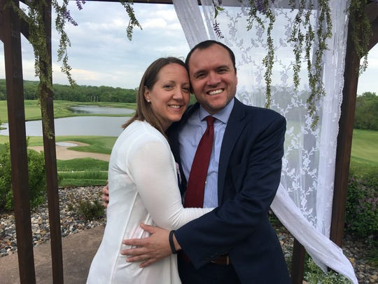 Kleber de Souza, right, plans to open Brazil Terra Grill steakhouse in West Des Moines. He is picture here with his wife, Kelly de Souza.