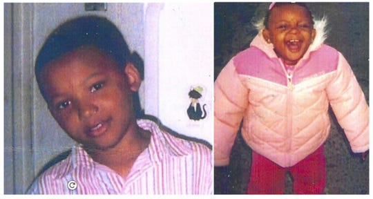 Ten-year-old Raylord McCulley (left) and one-year-old Tamyah Vaughn (right) died as a result of the fire.
