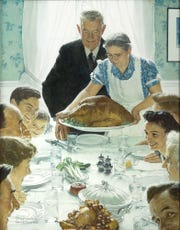 """Norman Rockwell's """"Freedom from Want"""" is part of the """"Enduring Ideals: Rockwell, Roosevelt & the Four Freedoms"""" exhibit at the Henry Ford Museum of American Innovation."""