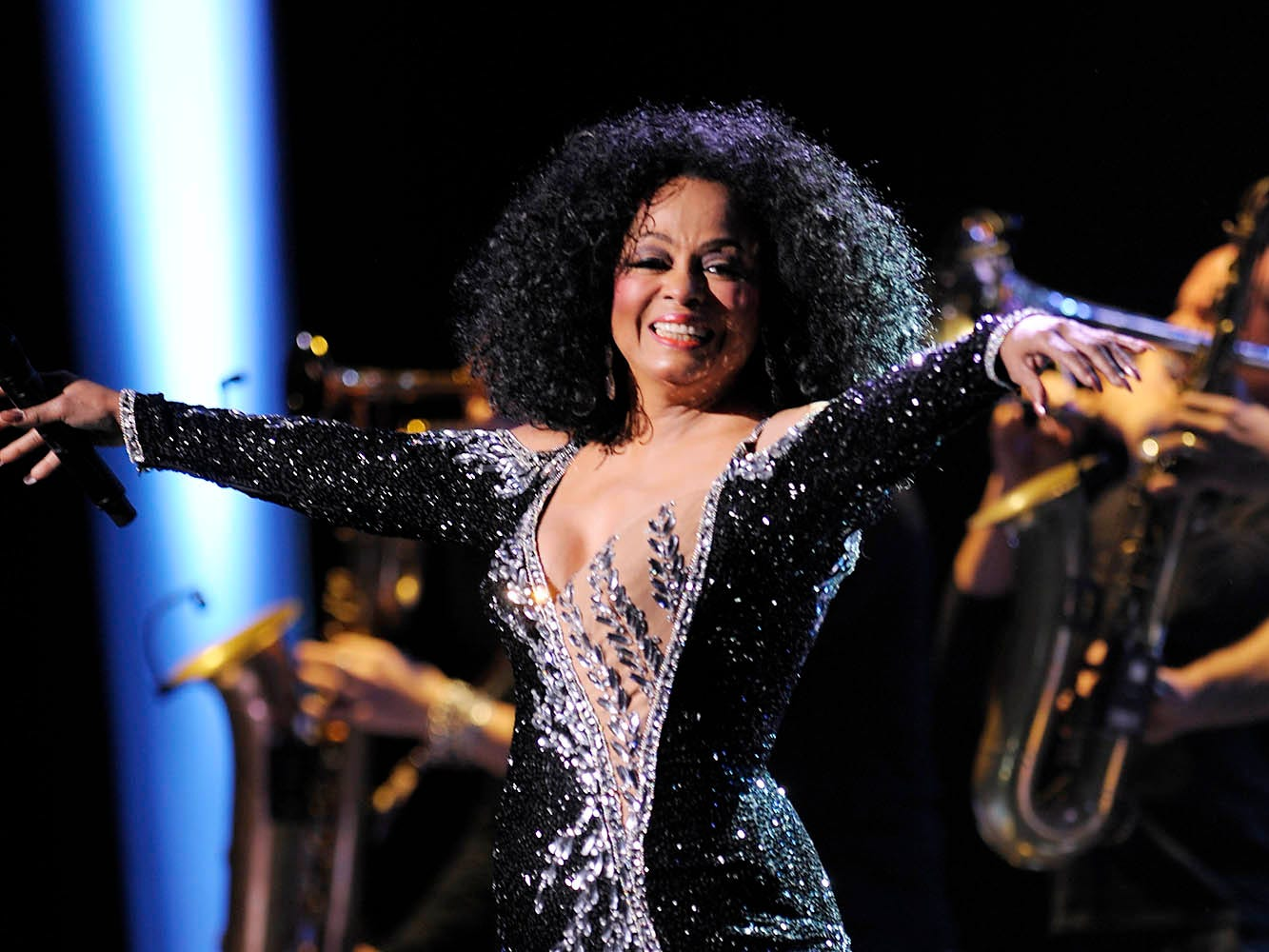 "Motown diva Diana Ross brings her ""More Today Than Yesterday"" tour to Detroit's Fox Theatre, May 29, 2010. The tour was dedicated to the memory of her late friend Michael Jackson."