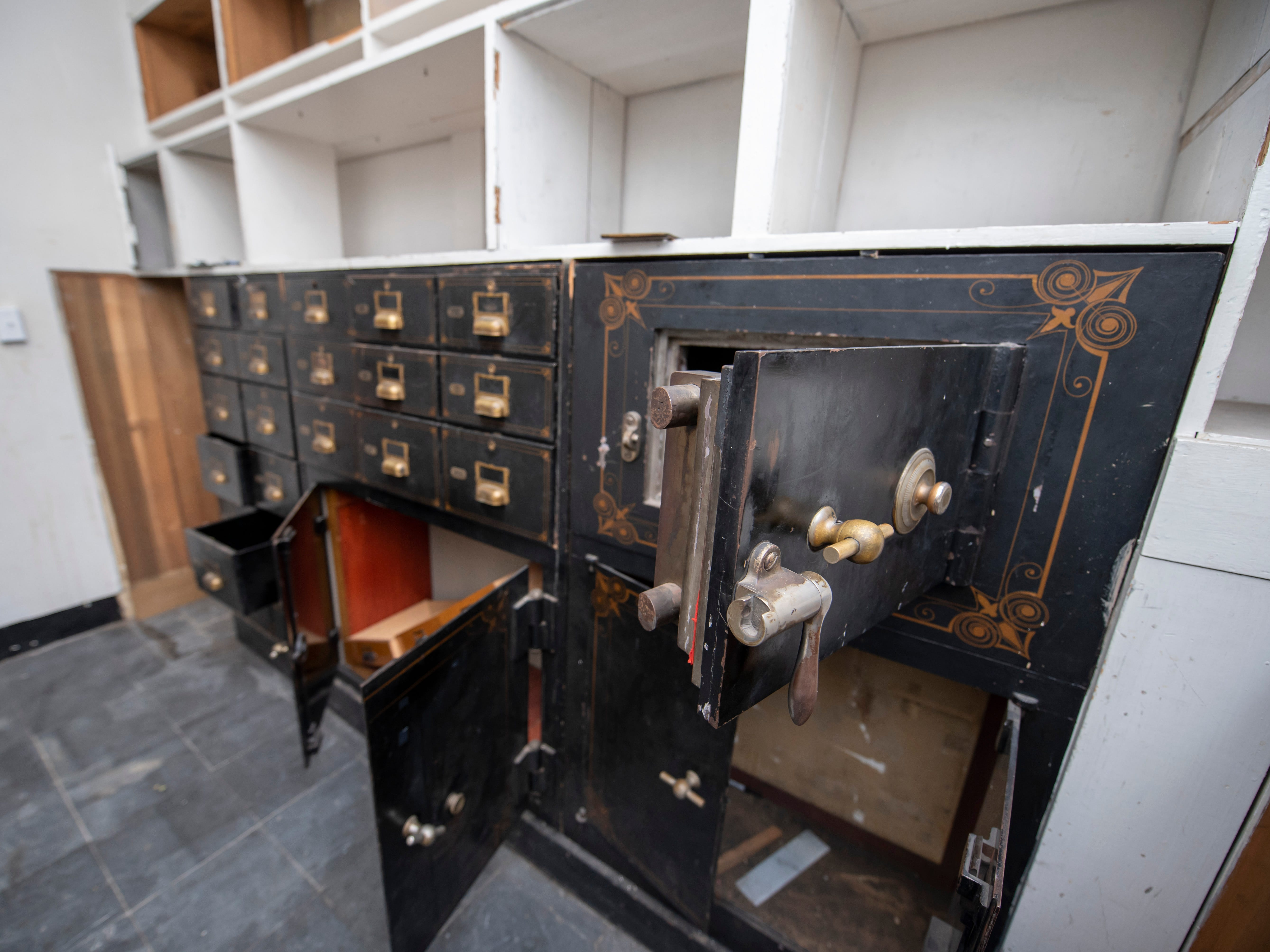 Old safes inside the 1906 building will be used to hold marijuana inside a secure room.