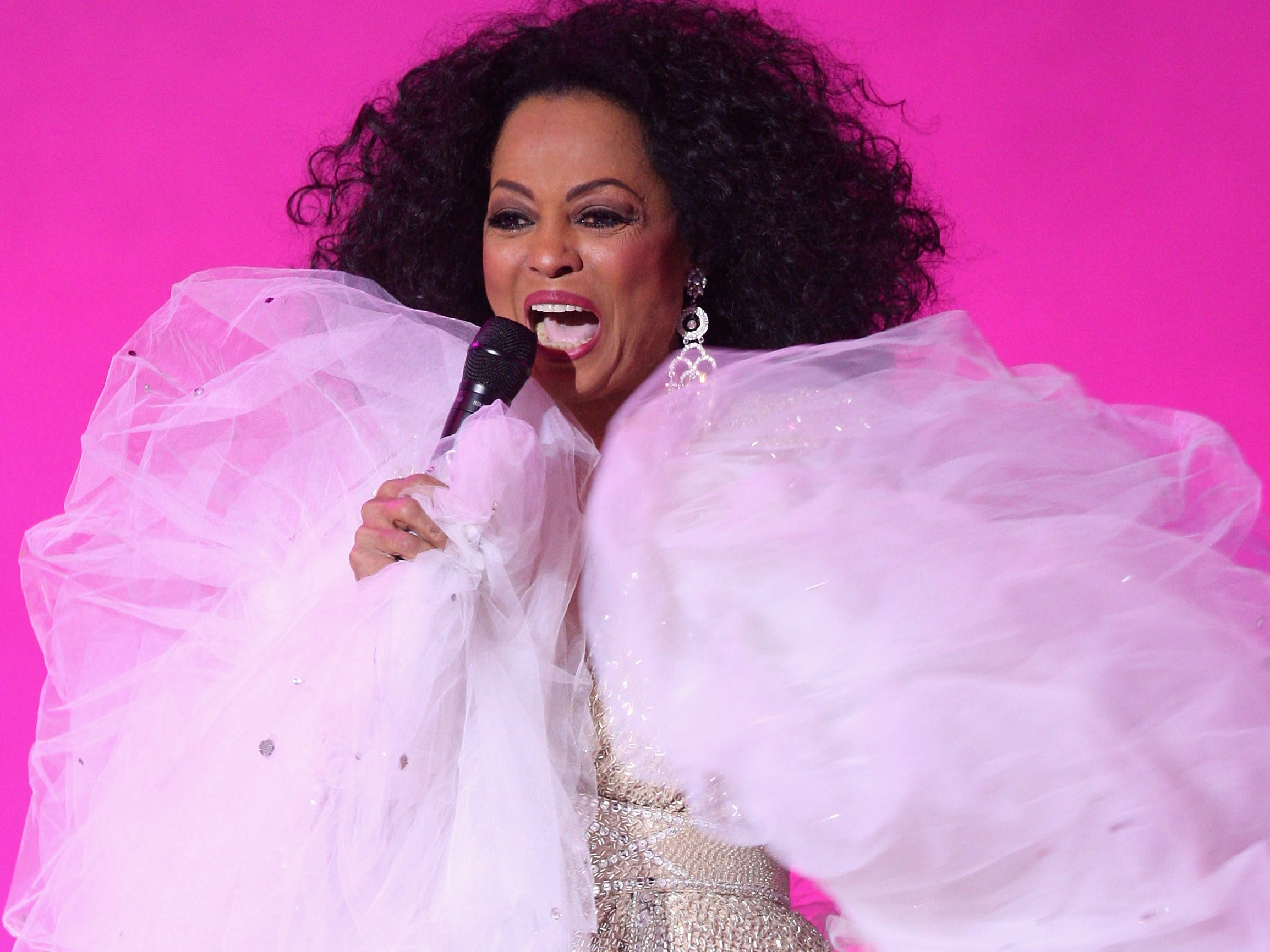 Diana Ross performs at the Nobel Peace Prize Concert 2008 at the Oslo Spektrum in Oslo, Norway on Dec. 11, 2008.