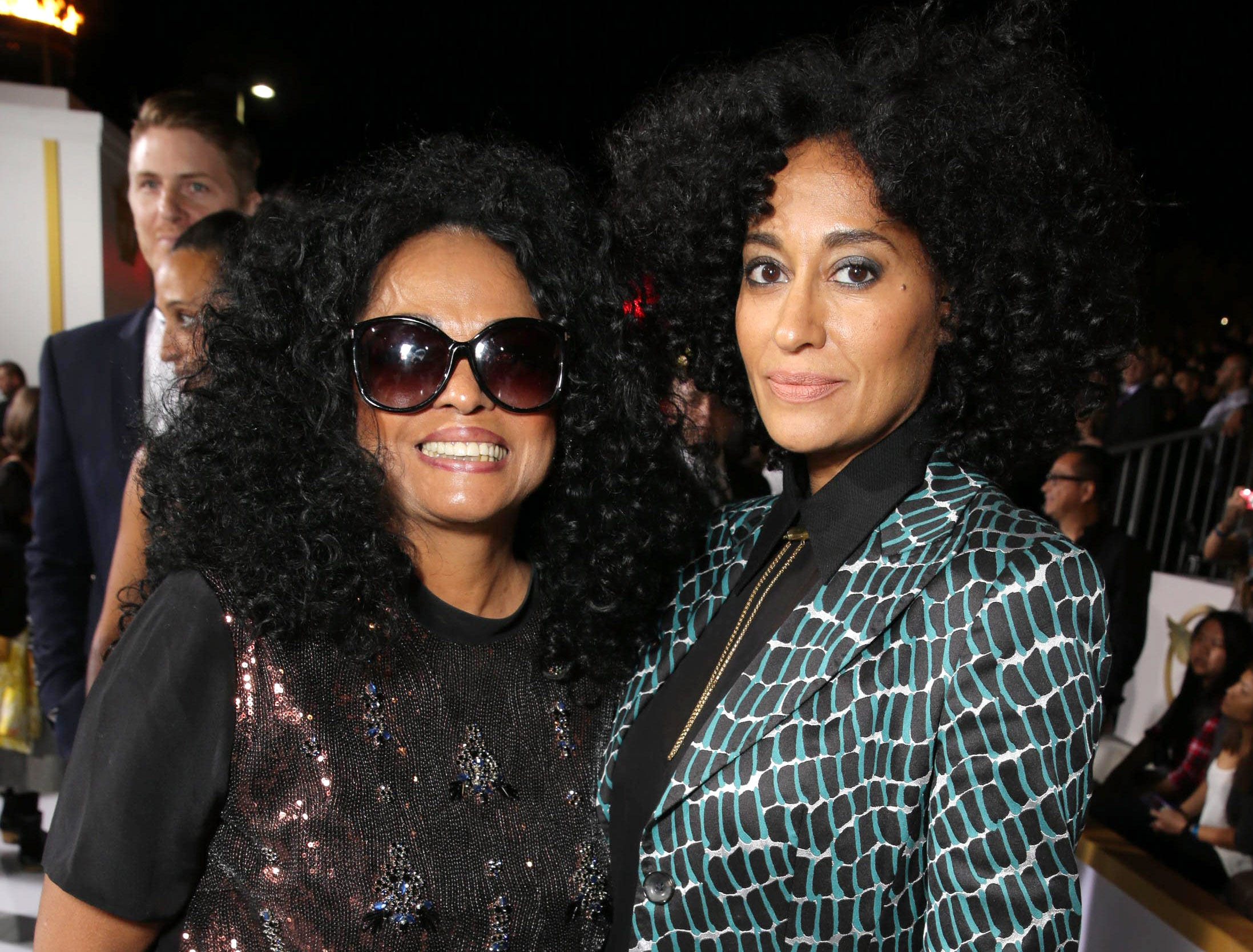 "Diana Ross and her daughter, actress  Tracee Ellis Ross, attend the Los Angeles Premiere of Lionsgate's ""The Hunger Games: Mockingjay - Part 1"" in Los Angeles on Nov. 17, 2014."