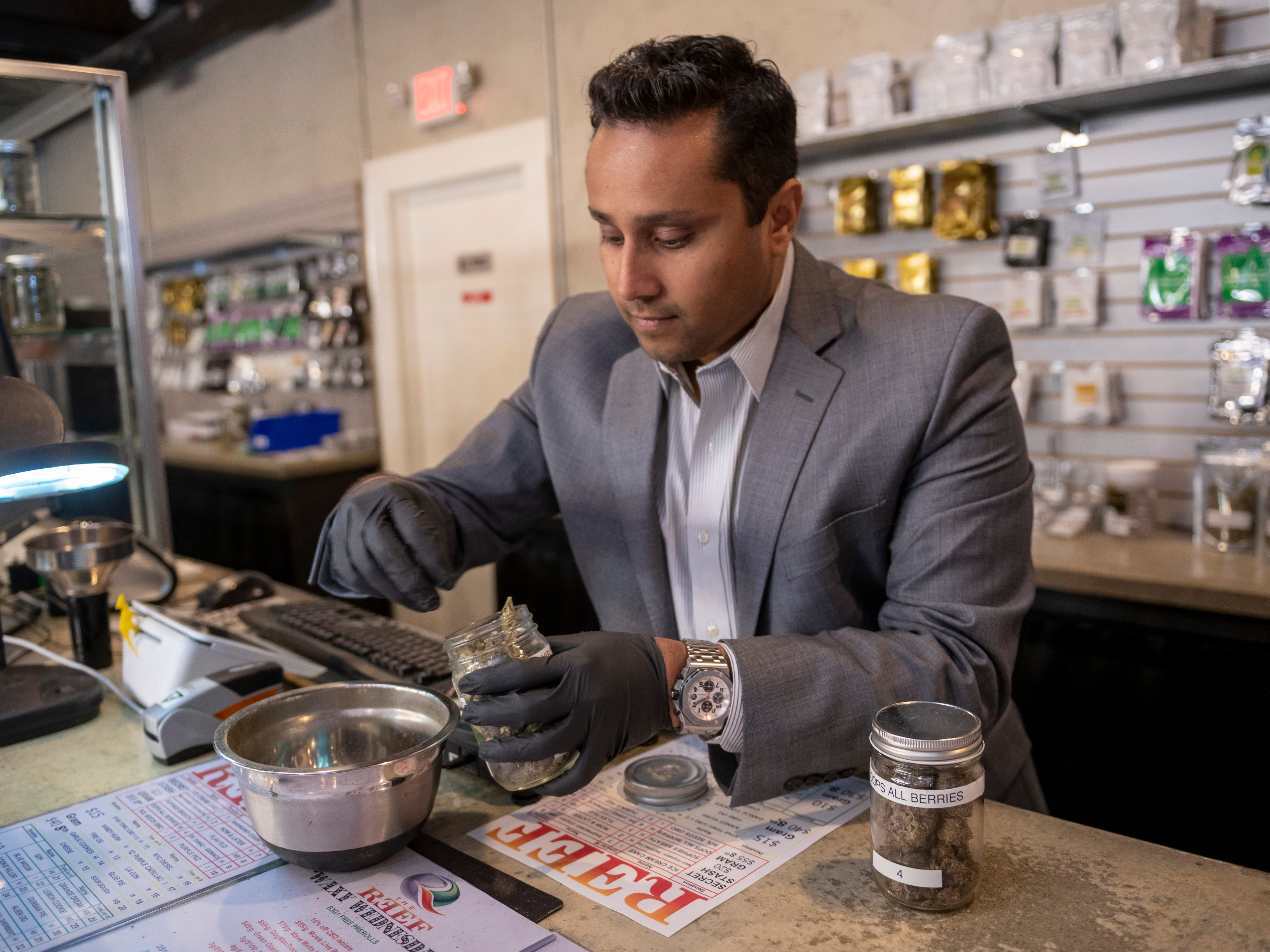 """""""We want to move the industry forward,"""" said Rush Hasan, head of The Reef's operations and business development. """" We want to show good things can be done by a marijuana company."""""""