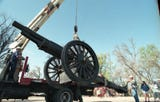 The century-old artillery piece has been at the center of City Park for decades. In the 1980s and 1990s, it became the center of a controversy.