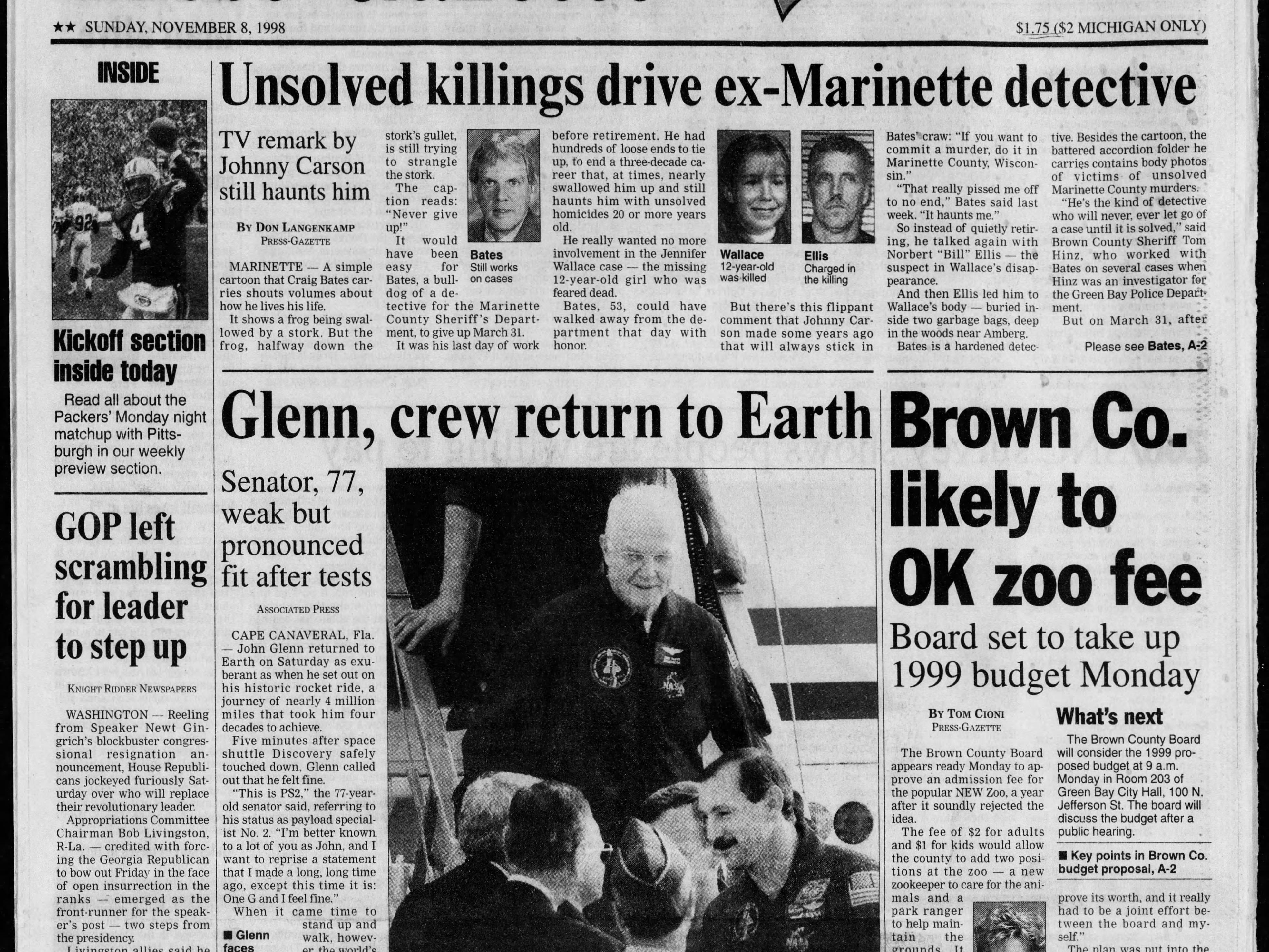 Today in History: Nov. 7, 1998