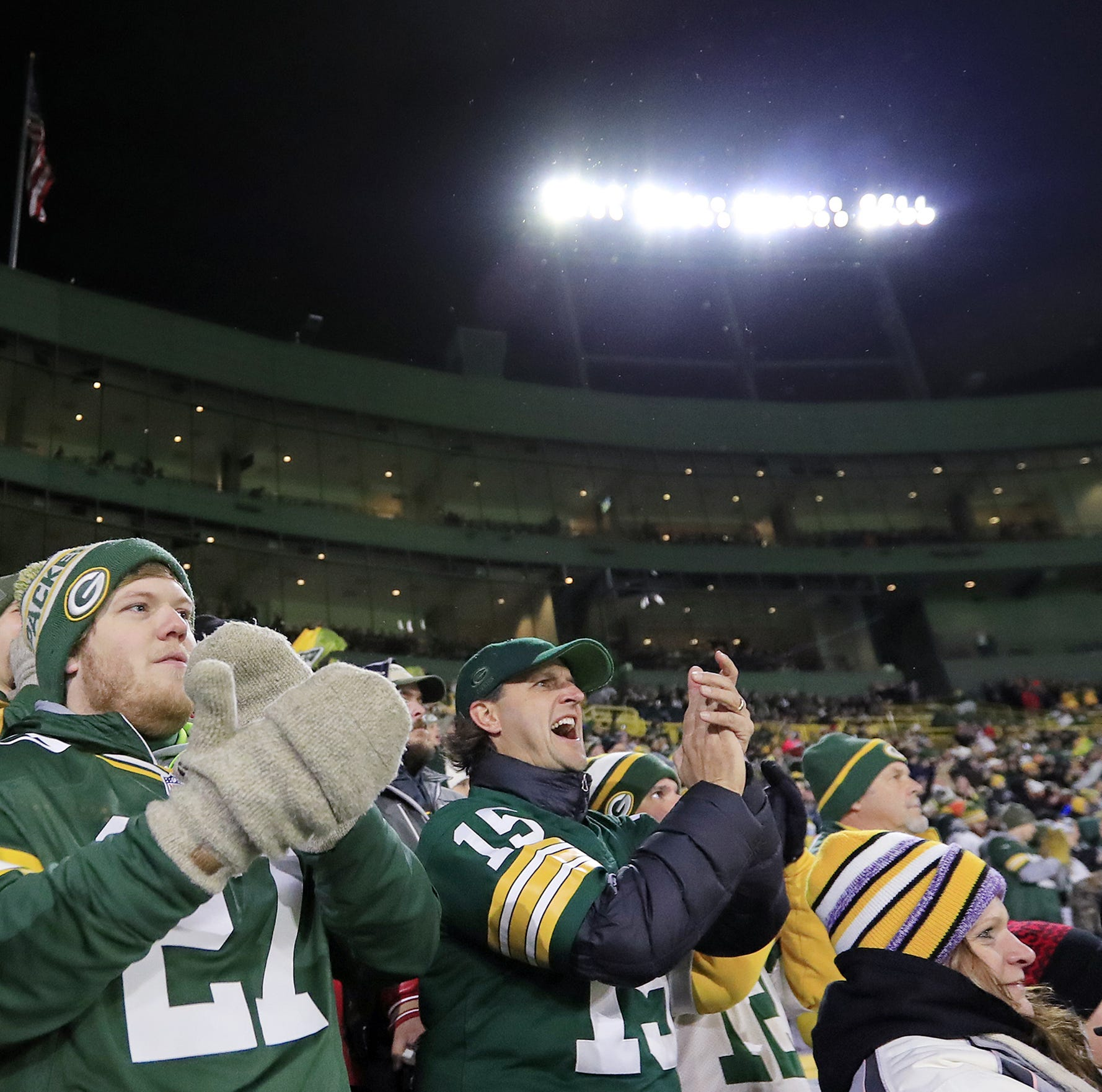 In Section 103, Green Bay Packers fans have their second family