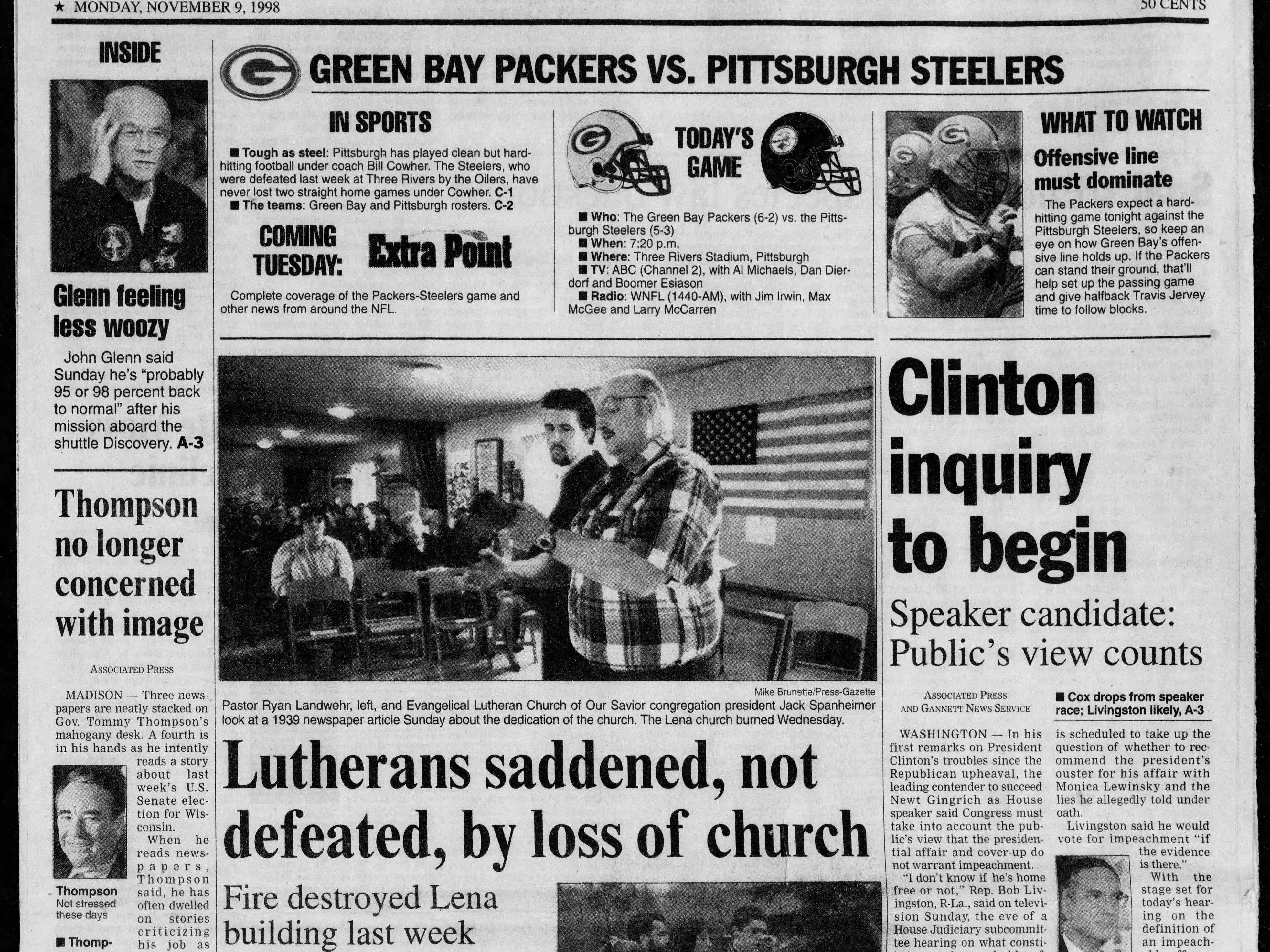 Today in History: Nov. 9, 1998