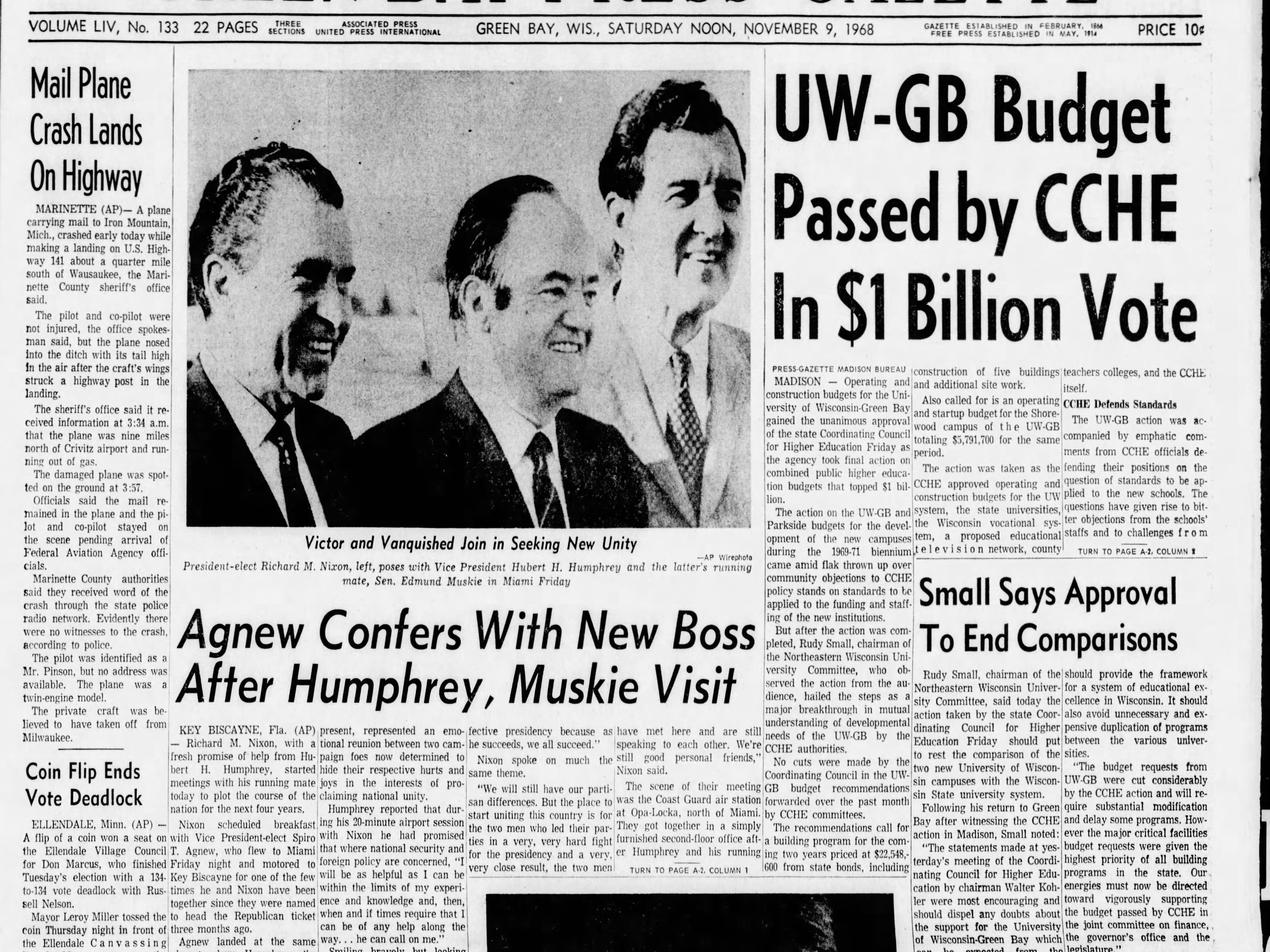 Today in History: Nov. 9, 1968
