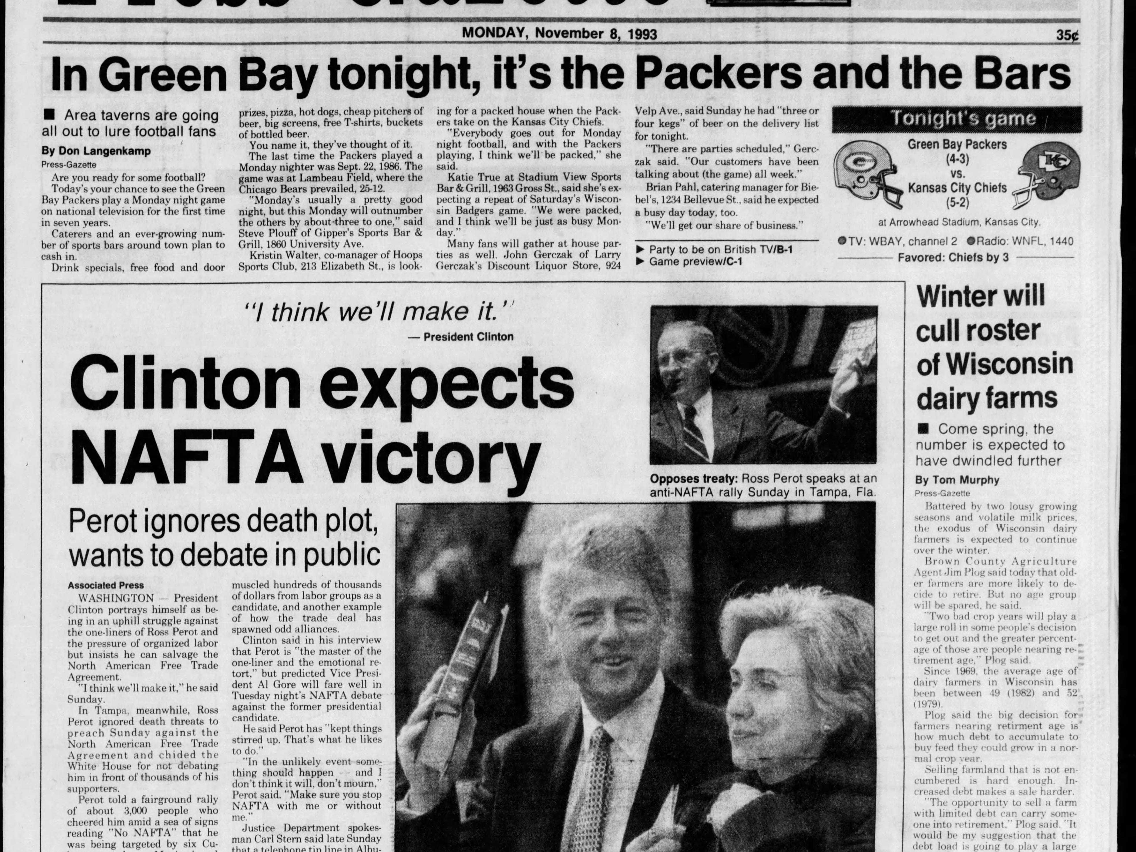 Today in History: Nov. 7, 1993